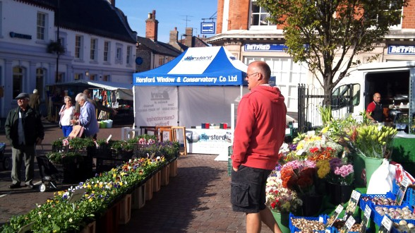 Horsford stand at a local market