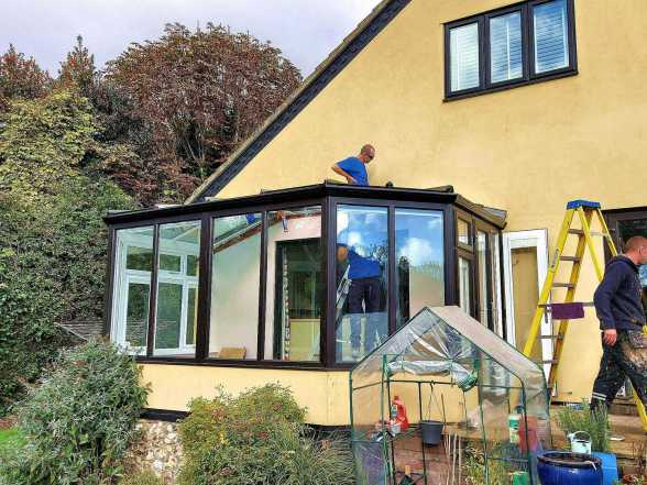 Roof replacement with Horsford fitters on site